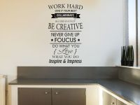 Work Hard Inspirational wall art quote Vinyl Wall Decal